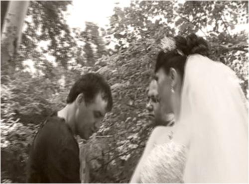 Das Paar und Fotografen