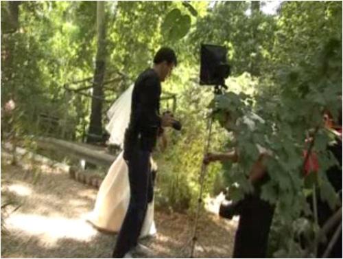 Fotografen und die Braut
