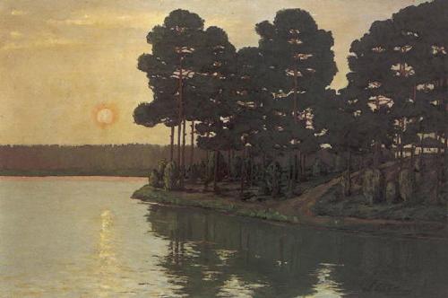 See_bei_Sonnenuntergang_(1895)