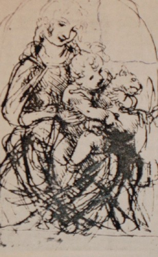 Madonna mit Kind und Katze
