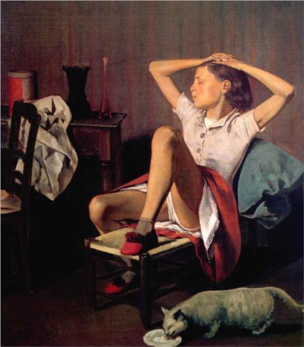 teresa marzy - z kotem - Balthus1938 - MOMA