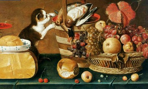 Unknown Dutch artist, The Cat's Meal. 1625-50