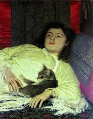 IwanKramskoj-Dziewczynka z kotem (olga)