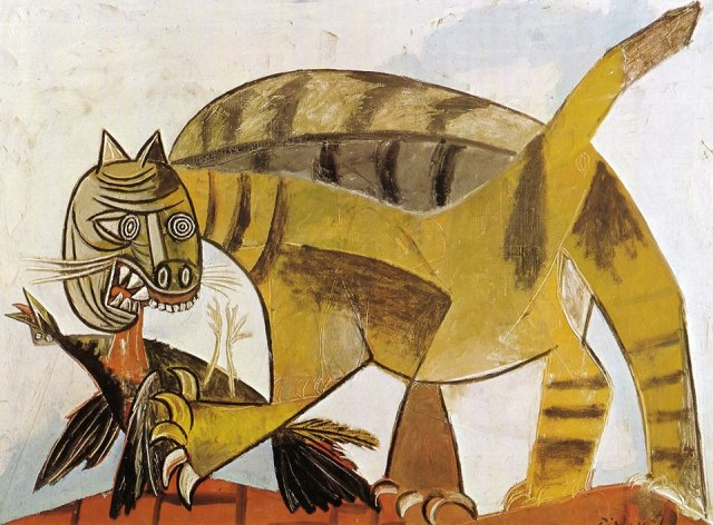 Picasso - kot pozera ptaka 1939