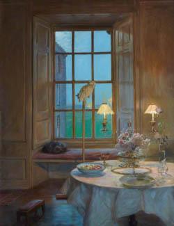 A-Room-atTwilight-KellieCastleJohnHenryLorimer1856-1936