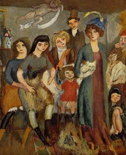 Jules Pascin - The Turkish Family