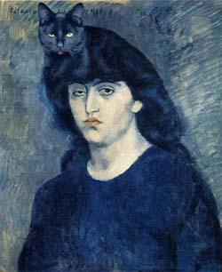PicassoKobieta-z-czarnym-kotem na glowie