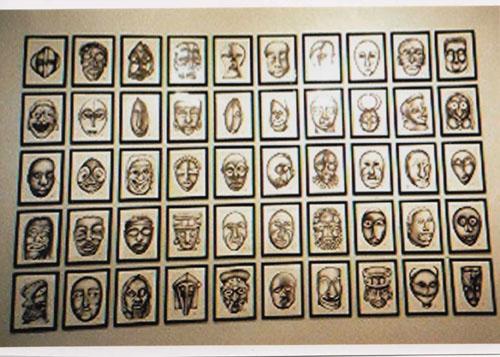 Alexandra Holownia Masks  Exhibition, Monserat Gallery NYC 1994