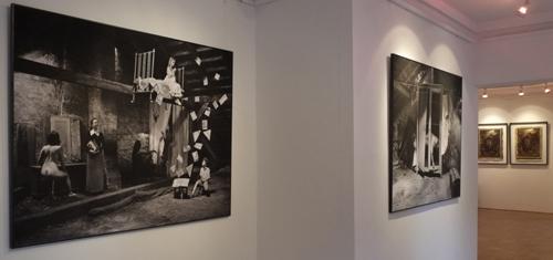 3 fragment ekspozycji, korytarz, widok na Gabinet