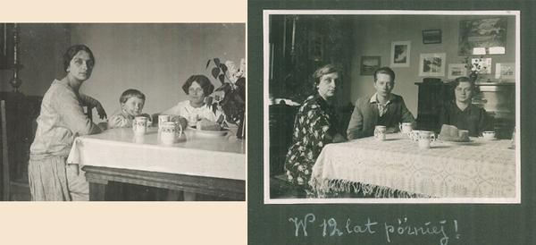 autorka_dziennika_Malgorzata_Hrebnicka_z_dziecmi_ok_1928 -1940