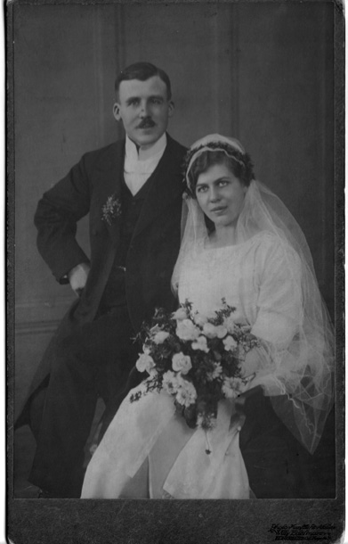 Rok 1918-slub cioci Heleny- wujka Adolfa