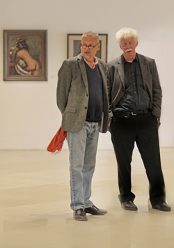 4 BUNT vernissage 19 04 15 Piotr Piotrowski and Timothy O Benson
