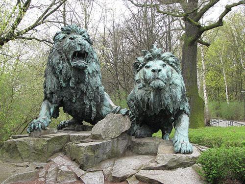 Reinhold Begas  Löwen im Tierpark