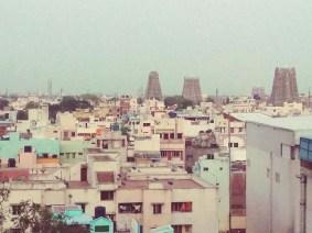 Tempel gucken vom rooftop