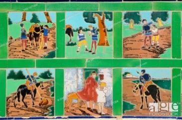 Don Quixote Tiles Fontana Rosa Garden Menton Alpes-Maritimes France